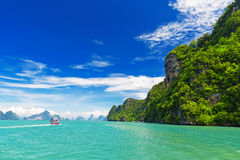 Tropical landscape in the Pang Nga bay, Thailand Stock Photo