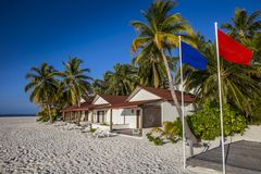 Tropical landscape. Paradisiacal landscape tropical beach in the Maldives Stock Image