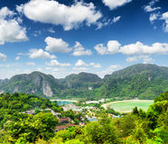 Tropical landscape. Phi-phi island, Thailand Royalty Free Stock Photo