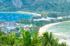 Tropical landscape. Phi-phi island, Thailand Royalty Free Stock Image