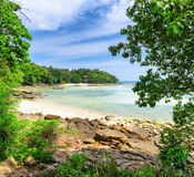 Tropical landscape. Phi-phi island, Thailand Royalty Free Stock Photos
