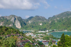 Tropical landscape. Phi-phi island, Thailand. Royalty Free Stock Photos