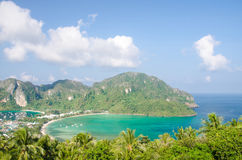 Tropical landscape. Phi-phi island, Thailand. Stock Images