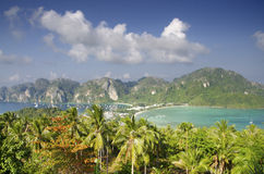 Tropical landscape. Phi-phi island, Thailand. Royalty Free Stock Photography
