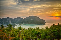 Tropical landscape. Phi-phi island, Thailand. Stock Photos