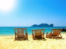 Tropical landscape. Railay beach, Krabi, Thailand Royalty Free Stock Photo