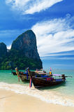 Tropical landscape. Railay Beach. Thailand Stock Photo