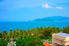 Tropical landscape with sea bay and islands. Nha Trang, Vietnam Stock Images