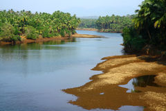Tropical landscape in south India with river Stock Photos
