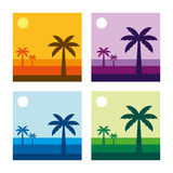 Tropical Landscape Vector Illustration Stock Photo