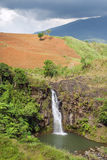 Tropical landscape with waterfall Stock Photo