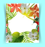 Tropical leaf pattern poster Royalty Free Stock Photography