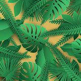 Tropical leaves background stock illustration