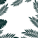Tropical leaves frame Stock Photo