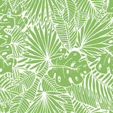 Tropical leaves pattern Royalty Free Stock Image