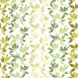 Tropical leaves pattern. Vector illustration Royalty Free Stock Photos