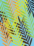 Tropical leaves- seamless pattern. Tropical palm leaves - seamless pattern Royalty Free Stock Photos