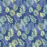 Tropical leaves seamless pattern in simple flat style. Stock Photos