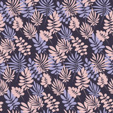 Tropical leaves seamless pattern in simple flat style Royalty Free Stock Photography