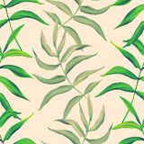 Tropical leaves. seamless stylish fashion pattern Royalty Free Stock Photography