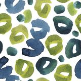 Tropical leaves. seamless watercolor background. leopard print pattern. Seamless background. stock photo