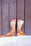 Tropical legs Stock Photography