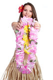 Tropical Lei Girl Royalty Free Stock Photography
