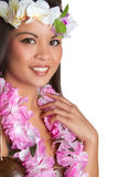 Tropical Lei Woman Stock Image