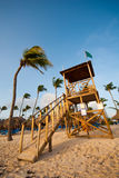 Tropical lifeguard stand Stock Images