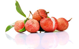 Tropical litchi Stock Image
