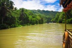 Tropical Loboc river, blue sky, Bohol Island, Stock Photos