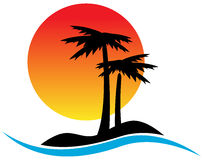 Tropical logo Stock Image