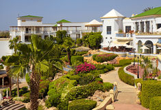 Tropical luxury resort hotel, Sharm el Sheikh, Egypt. Stock Photos