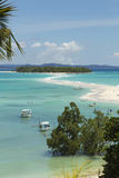 Tropical Malagasy beach landscape on turquoise waters Royalty Free Stock Photos
