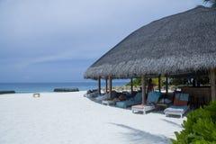 Tropical Maldives resort Stock Images
