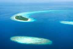 Tropical Maldivian islands in Indian ocean Stock Image
