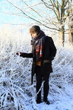 Tropical man in winter Stock Images