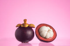 Tropical mangosteen fruits, queen of fruits Royalty Free Stock Photo