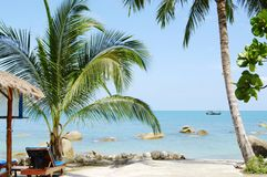 Tropical marine landscape. Silver Beach, Koh Samui, Thailand Stock Photography