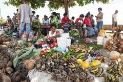Tropical Market, Fiji Stock Photo