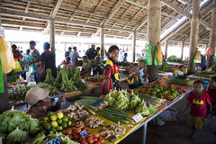 Tropical Market New Guinea stock photo