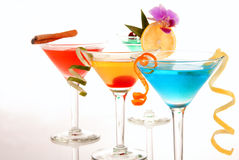 Tropical Martini cocktails Royalty Free Stock Photos