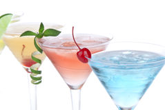 Tropical Martini Cocktails With Vodka Royalty Free Stock Photography