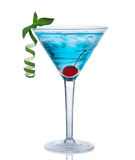 Tropical Martini Cosmopolitan Cocktail Or Blue Hawaiian Royalty Free Stock Photo