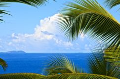Tropical melody. Dream seascape view, Seychelles, La Digue island Royalty Free Stock Image