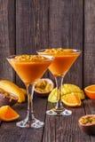 Tropical milkshake with ingredients. Stock Images