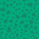 Tropical monstera leaves seamless repeat pattern . Exotic plant royalty free illustration