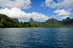 Tropical Moorea skyline Royalty Free Stock Photos