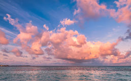 Tropical morning seascape in Maldives Stock Photography