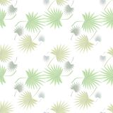 Tropical motive palm leaves seamless vector floral pattern background royalty free illustration
